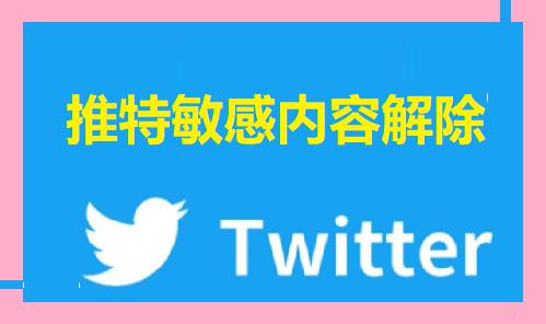 推特敏感内容解除设置