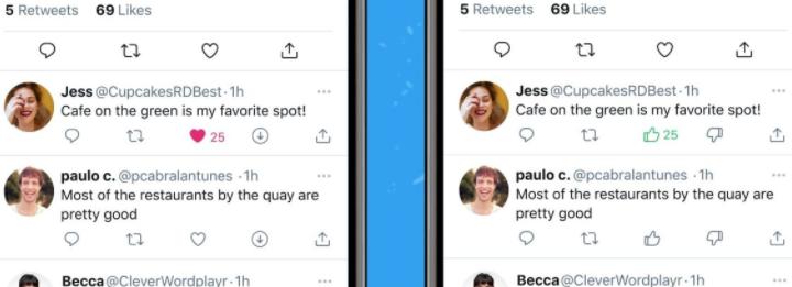"""苹果iOS版Twitter开始测试""""不喜欢""""按钮"""